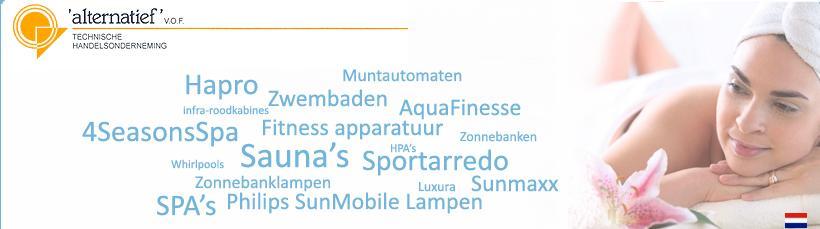 UWE – Zonnebanken – Sauna's – Zwembaden – Fitness apparatuur – Whirlpools – Leiderdorp